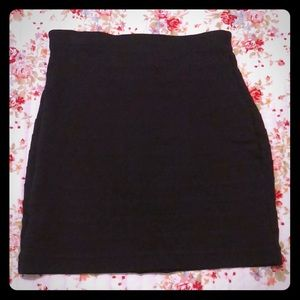 Express Black Bodycon-type Skirt with back zip